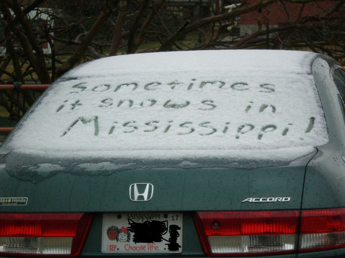 It Snows In Mississippi, Sometimes